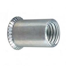 Резьбовые алюминиевые заклепки открытого типа потайной бортик