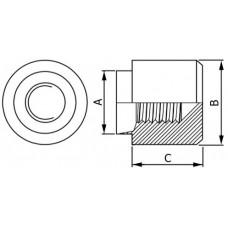 Развальцовочная глухая резьбовая втулка (бонка) тип TA (Tank)