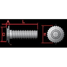 Шпилька запрессовочная для глухих отверстий CHC из нержавеющей стали