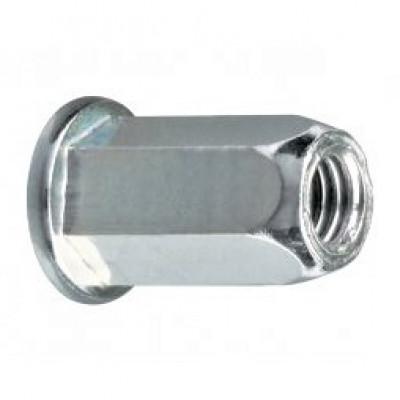Шестигранные резьбовые заклепки открытого типа стандартный бортик из нержавеющей стали