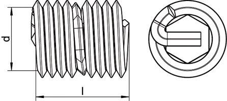 Вставка для ремонта резьбы пружинная