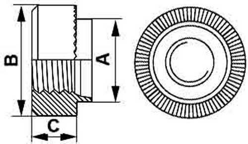 Развальцовочная гайка (бонка) тип RMHB миниатюрная